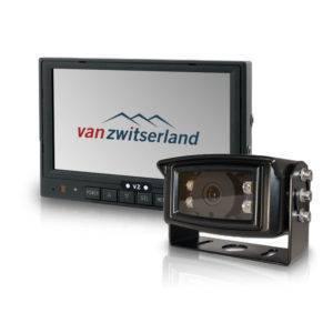 Achteruitrijcameraset voor 12 en 24 volt met verwarmde IP69k geteste camera met ruim infrarood nachtzicht