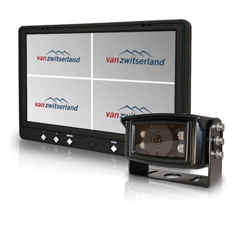 Extra grote achteruitrijcamera monitormet split quad functie en touch scherm