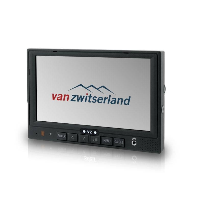 Dubbel DIN formaat achteruitrijcamera monitor