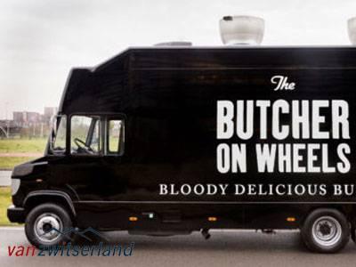 Food truck company camera inbouw van zwitserland