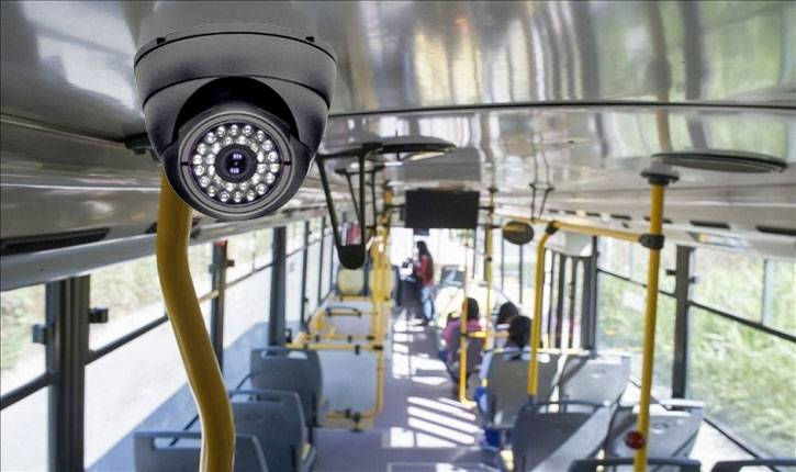 camera binnenin bus